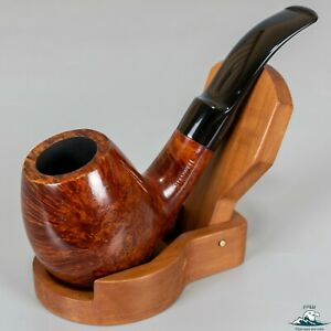 Stanwell Royal Rouge Smooth Bent Brandy Sitter Saddle Stem (206) 9mm