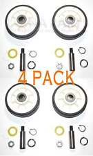 New listing 4 Pack New Ah1570070 Dryer Support Roller Wheel Kit Fits Maytag Amana Whirlpool