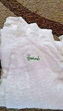 Vintage HARRODS DRESSING GOWN Robe White Ladies Size Small c.1970's