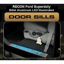 RECON 264121FD Ford SUPERDUTY 99-15  Aluminum  Emblems Illuminated door sill