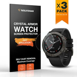 3 Pack Tempered Glass Screen Protector For Garmin Fenix 6 6S Pro 6X Pro Solar