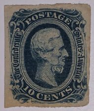 Travelstamps: US Stamps CONFEDERATE CSA SCOTT #12  Mint OG HINGED, 10 cents