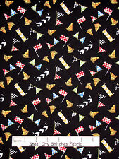 Racing Theme Fabric - Speed Flag Cone Toss Race Day Wilmington #65173 - Yard