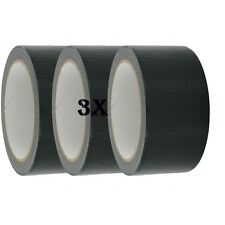 3X Duck Strong Adhesive Duct Gaffa Gaffer Waterproof Cloth Tape Black 48mmx50m