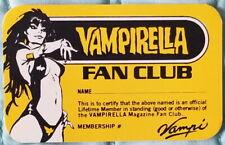Vampirella Fan Club Membership Card - Warren Unused