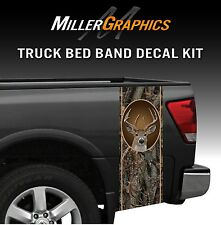 "Whitetail Buck Deer ""Oak Ambush"" Hunting Camo Truck Bed Band Decal Graphic"