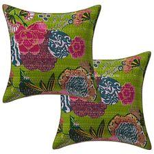 Home Decor Kantha Throw Pillows Cover Indian Cotton Cushion Cover Set 16 X 16
