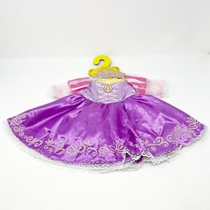 Build A Bear Disney Tangled Princess Rapunzel Dress Dress Gown Outfit Crown New