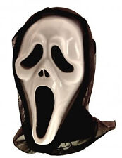 NEW GHOST HOODED HORROR MASK HALLOWEEN FANCY DRESS