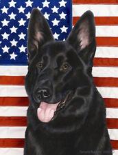 Garden Indoor/Outdoor Patriotic II Flag - Black German Shepherd 320911
