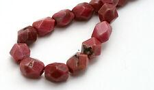 Semi Precious Rhodonite Faceted Nugget Beads 8MM