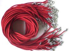 Al Por Mayor 10 Piezas Rojo Piel De Ante Cuerda 50.8cm Cordones Para Collar