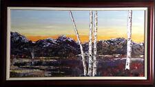 "Maya Eventov ""Purple Range"" Original Acrylic on Canvas, H.Signed ADL031011-01"