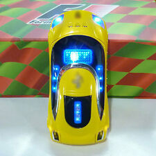W8 yellow Sports car model Unlocked cell phone Quad Band Dual SIM card MP3 phone