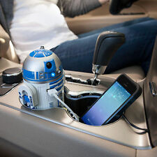 Star Wars R2-D2 USB Car Charger Android Lucasfilm Light Sound Motion iPhone