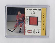 2002-03 FLEER LEGAACY IN THE CORNERS GUY LAFLEUR GAME USED BOARD