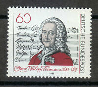 Germany 1981 MNH Mi 1085 Sc 1344 Music composer Georg Telemann **