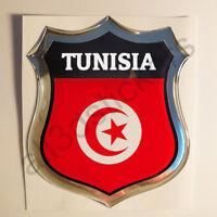 Pegatina Tunez 3D Escudo Emblema Vinilo Adhesivo Resina Relieve Coche Moto