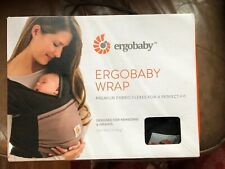 Ergo Baby Ergobaby Wrap Black Brown Carrier New with Box & Directions