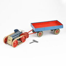 Gescha Patent Traktor - Anhänger - Schlüssel - Original - Blechspielzeug