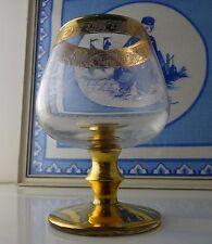 Kristallglas Cognac Glas Medici Rand und Fuß Gold