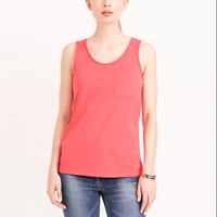 women's J. CREW Factory Garment Dyed Tank Coral 100% Cotton 2017 Top - Small