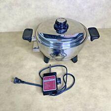 Health Craft 3qt Electric Slow Cooker Saucepan Waterless 92253 USA Working! EUC