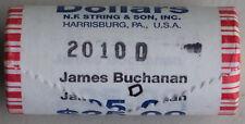 2010 D James Buchanan Uncirculated One Dollar 25 Golden Coin Roll $1