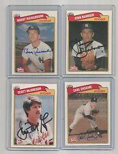 1989-SWELL auto-SIGNED bobby RICHARDSON  card #49 YANKEES baseball TEAM +2016 UD