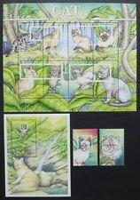 Guyana 2001 Katzen Cats Perser Somali Abessinier Pets 7134-43 Block 693 MNH