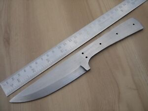 """9"""" custom made quality spring steel special design hunting knife blank blade"""