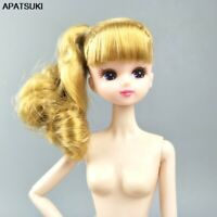 Kids Toy Nude 1/6 BJD Dolls Gold Hair Doll Head Jointed Body For Licca Doll 1:6
