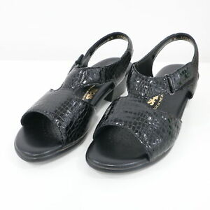 SAS Sandals Tripad Comfort Womens 8W Suntimer Black Croc Patent Leather