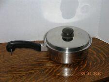 "SALADMASTER 7 1/4"" STAINLESS STEEL 18-8 Tri-Clad 1.7 qt SAUCE PAN POT & VAPO LID"