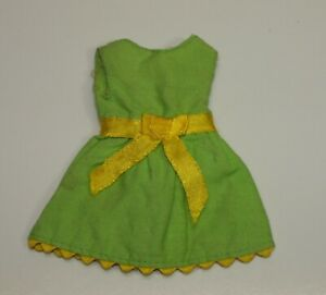 Vintage Skipper # 1513 YOUNG IDEAS Green Party Dress SEARS EXCLUSIVE
