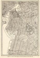 1914 Antique BROOKLYN City Map Street Map of Brooklyn New York Wall Art 8143