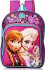 "DISNEY FROZEN ANNA  ELSA Light-Up 16"" Backpack w/ Optional Insulated Lunch Box"