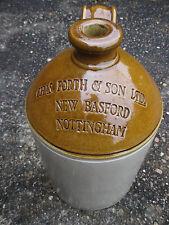 One Gallon Stoneware Flagon Jar Pot Bottle Chas Forth New Basford Nottingham