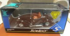 SOLIDO FORD ROADSTER NO 8039 PRESTIGE METAL DIE CAST BLACK RED