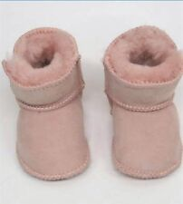 OUCH Baby GIRLS PINK GENUINE SHEEPSKIN Winter Slippers / UGG BOOTS 12-18 Months