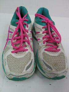 Asics Gel Kayano 21 Women's Running Shoes Size 7 White Pink Green