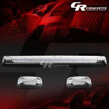 3-PIECE CHROME YELLOW LED ROOF TOP RUNNING LIGHTS SET FOR 07-13 SILVERADO/SIERRA