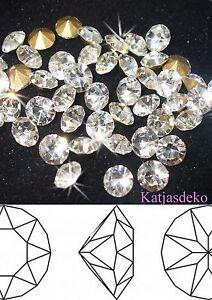Ø1,0mm-5,0mm x 50Stück  Strasssteine Chaton Crystal Glas Geschliffen Swarovski