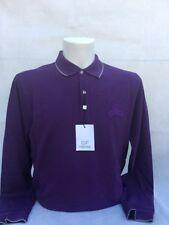 GF Ferre talian men's Polo Shirt long sleeve purple UK M