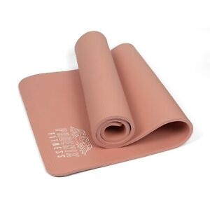 Exercise NBR Fitness Yoga Mat With Carry Strap - 185 x 61 cm - 15mm - Pink