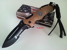 "US Marines MTech M-1020BT REAPER 4.75"" Folding Pocket Knife Combo Edge"