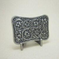 Silver Plated Western Flower Celtic Metal Fashion Belt Buckle