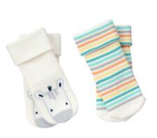 Gymboree Newborn Essentials Baby Zebra Boys 2pk Socks Nwt Zoo 0-3 M