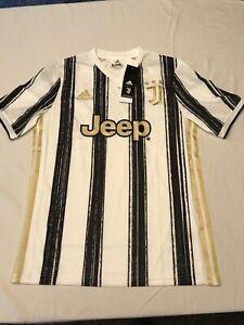 NWT Adidas Youth Juventus F.C. Serie A Soccer Jersey Black White Sz. XL Ronaldo