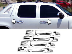 Chrome Door Handle Cover Trims Fit 2007-2013 Silverado-Tahoe-Suburban-Avalanche